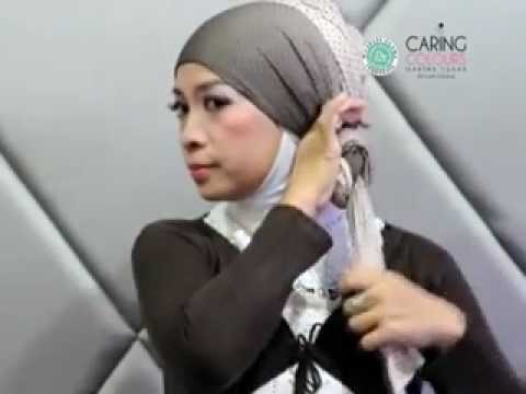 Caring Colours - Tutorial Hijab Type Kerudung Pashmina ( Bahan Kain ) part 1