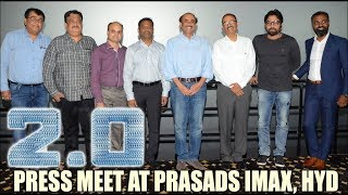 2.0 press meet at Prasads Imax, Hyderabad - idlebrain.com - IDLEBRAINLIVE