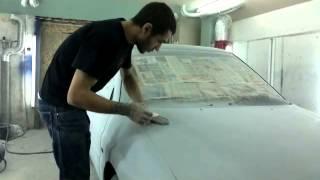 покраска авто в гараже работа по сухому