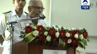 Modi speaks language of the Vedas l Gujrat Governor OP Kohli lavishes praise on Modi - ABPNEWSTV