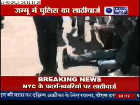 India News: Police Brutality outside Jammu Assembly