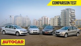 New Honda City Vs Hyundai Verna Vs Skoda Rapid Vs VW Vento | Comparison Test