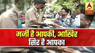 Mumbai police give roses to those travelling without helmets - ABPNEWSTV