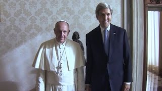 John Kerry talks with Pope Francis about refugees - CNN