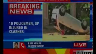 Fresh violence erupts in Tuticorn; 10 policemen, SP injured in clashes - NEWSXLIVE