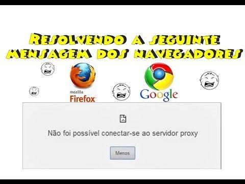 Não foi possível conectar-se ao servidor proxy