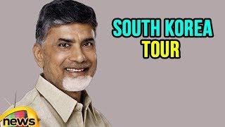 CM Chandrababu Naidu South Korea Tour Reached On Day 2 | Mango News - MANGONEWS