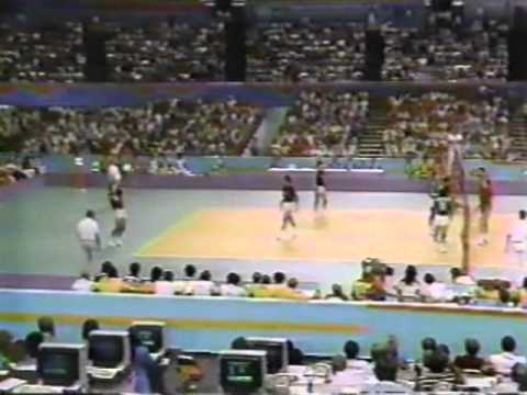 '84 Men's Olympic Volleyball; USA vs Argentina