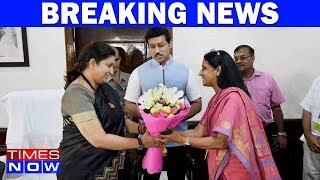 Smriti Irani Takes Charge As I&B Minister Post Venkaiah Naidu's Resignation - TIMESNOWONLINE