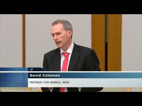 David Coleman MP speaks on job growth in Parliament