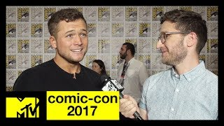 Taron Egerton Talks Kingsman: The Golden Circle | Comic-Con 2017 | MTV - MTV