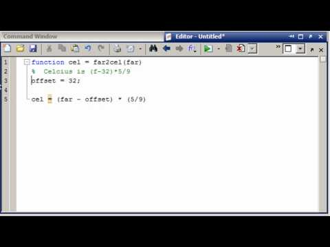 MATLAB Converting an equation to a function in MATLAB