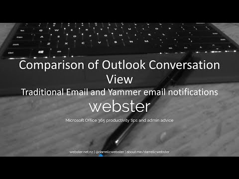 Comparing Outlook Conversation Viewof Email and Yammer email notifications