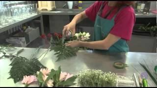 cmo hacer un ramo de flores tcnicas de alambrado de flores youtube