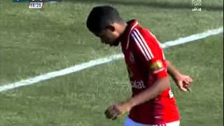 حارس المصري ينقذ فرصة هدف محقق للأهلي من تصويبة حسين السيد