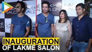 Sonu Sood at the Inauguration of Lakme Salon in Versova - HUNGAMA