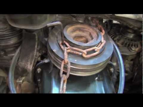 Remove/install Crankshaft Pulley Bolt on Honda