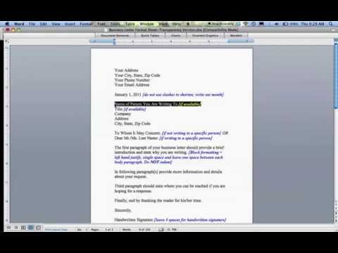 How to Write a Business Letter -egeyiUpFsaw
