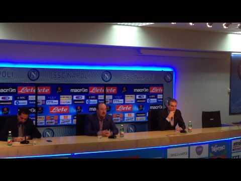 Conferenza Rafa Benitez vigilia Napoli Palermo