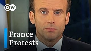 Macron makes concessions to calm 'yellow vest' protesters | DW News - DEUTSCHEWELLEENGLISH