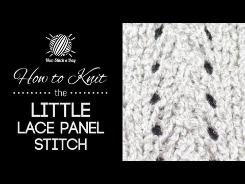 How to Knit the Little Lace Panel Stitch