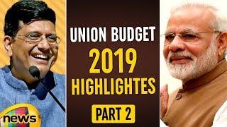 Budget Session 2019 Highlights | Piyush Goyal Says Over 70% Beneficiaries Of Mudra Yojna Are women - MANGONEWS