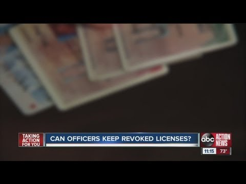 I-Team: Can officers keep revoked driver's licenses?