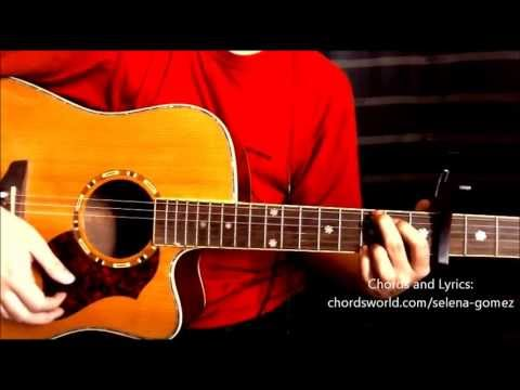 "Slow Down Chords ""Selena Gomez"" ChordsWorld.com Guitar Tutorial"