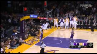 Wesley Johnson Takes Off From The Dotted Line For The Dunk