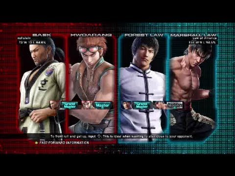 Tekken Tag Tournament 2 : nullstein (Baek X Hwoarang) VS Law of America (Forest Law X Marshall Law)