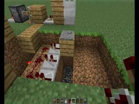 Como fazer uma porta com senha + Armadilha - Minecraft - SEM MODS