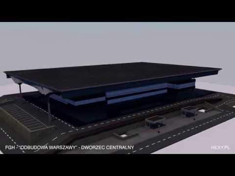 Projekt Dworca Centralnego w aplikacji mobilnej.