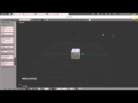 Blender 3D 2.6 - User Interface (3D View) part1