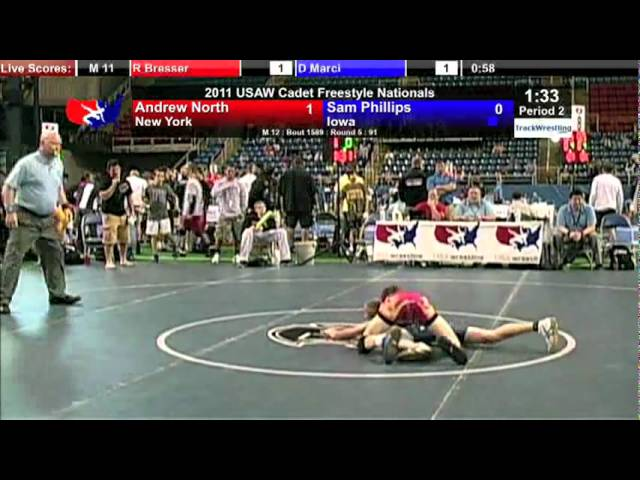 Cadet Freestyle 91 - Sam Phillips (IA) vs. Andrew North (NY)