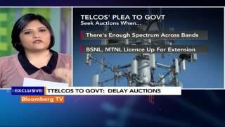 Newsroom: Telcos' Plea To Govt To Delay Auctions - BLOOMBERGUTV