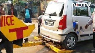 दिल्ली: सरोजनी नगर में गलत पार्किंग पर 5000 रुपए का जुर्माना - NDTVINDIA