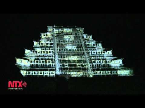 Espectáculo de luz y sonido en Cumbre Tajín.