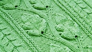 Вязание Листочка Спицами - узоры - 2017 / Knitting spokes leaf / Stricken Speichen Blatt