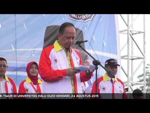 Menristekdikti Lepas KKN Kebangsaan Indonesia Timur di Universitas Halu Oleo Kendari