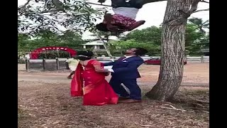 Photographer Hangs Upside Down To Get Perfect Shot - ABPNEWSTV