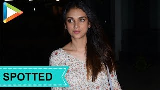 SPOTTED: Aditi Rao Hydari at Aamir Khan's house - HUNGAMA