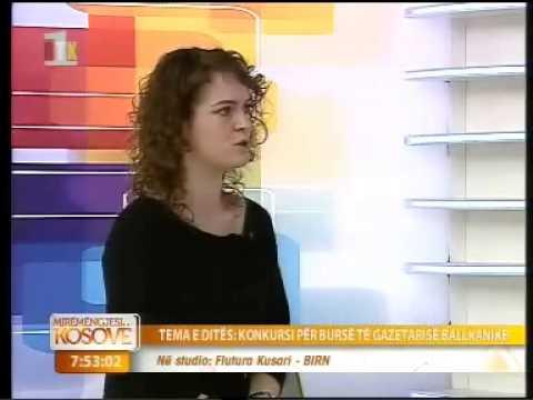 Flutura Kusari - ne RTK per Bursen Ballkanike per Persosmeri ne Gazetari