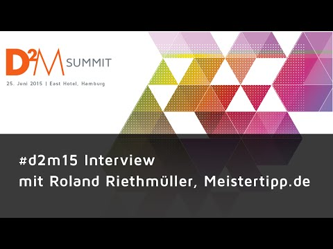 #d2m15 Interview - Roland Riethmüller