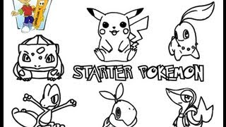 ColoringBuddyMike Starter Pokemon Coloring Pages To Print YouTube