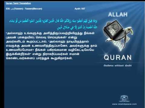 Quran Tamil Translation  036 يس Yaseen YaseenMeccan Islam4Peace com