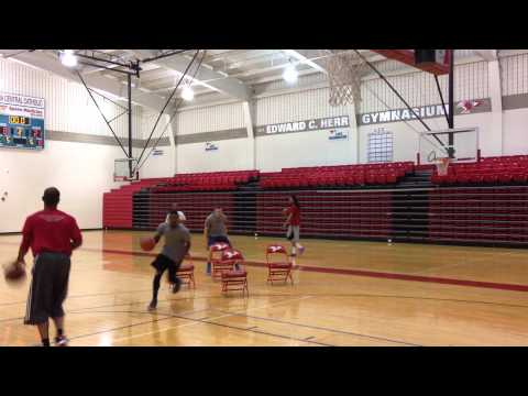 4 Chair Dribble Drive Drill