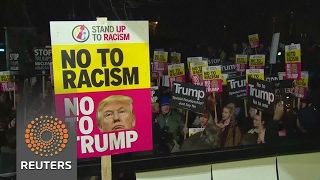 Anti-Trump protests held in European cities - REUTERSVIDEO
