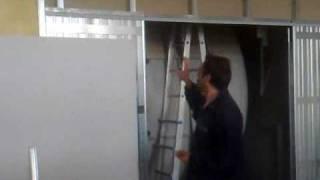 Applicazione di uno scrigno in parete cartongesso - YouTube