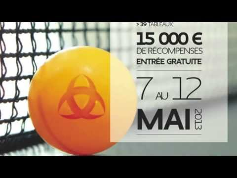 Bordeaux :  Open International 2013 de Tennis de Table