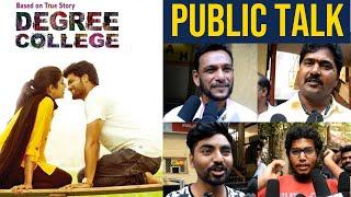 Degree College Movie Public Talk | Varun | Divya Rao | Degree College Movie Review | TFPC - TFPC
